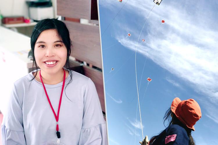 ハラハラと凧揚げ