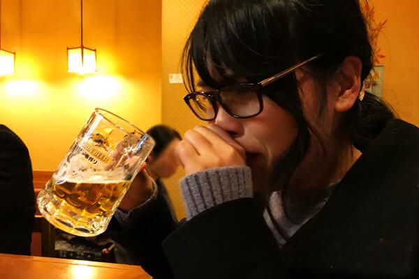 ビールとハラハラ
