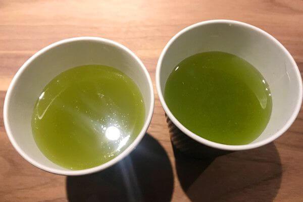 都田の煎茶と天竜の煎茶